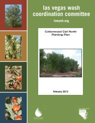 Cottonwood Cell North Planting Plan, 2012 - Las Vegas Wash ...