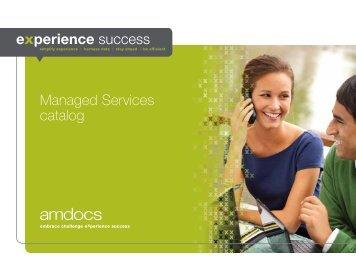Managed Services catalog - Amdocs