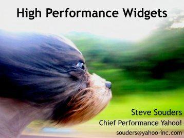 High Performance Widgets - Widget Summit