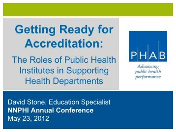 PHAB Presentation - National Network of Public Health Institutes ...