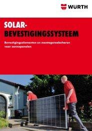 Brochure : Solar bevestigingssysteem - Würth Nederland