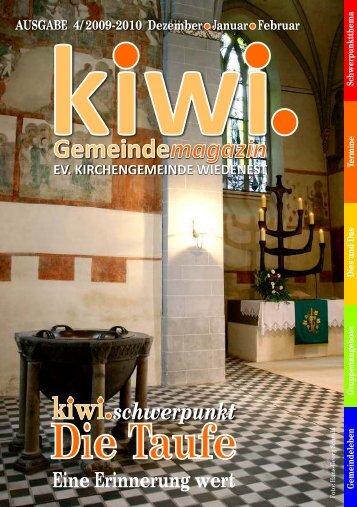thema kiwi - Evangelische Kirchengemeinde Wiedenest