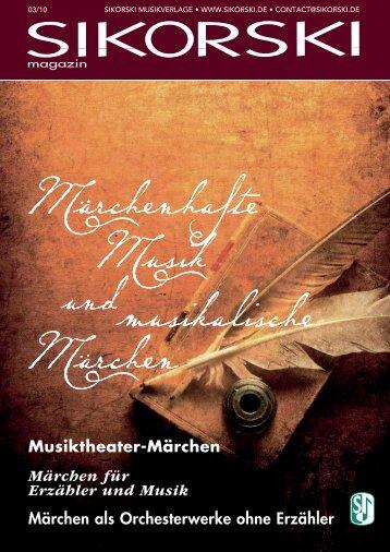 Musiktheater-Märchen Märchen für Erzähler und Musik ... - Sikorski