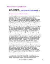 Islamic views on globalization - lscoop.com