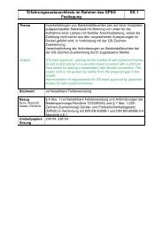 Erfahrungsaustauschkreis im Rahmen des GPSG EK 1 ... - ZLS