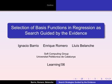 Selection of Basis Functions in Regression as ... - VideoLectures