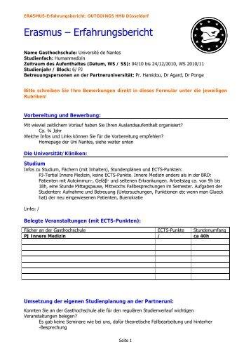 Erasmus – Erfahrungsbericht