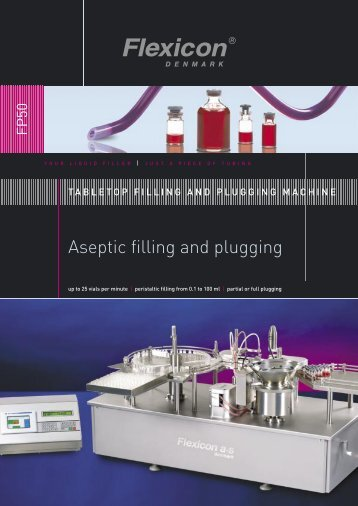 Aseptic filling and plugging - Flexicon.dk