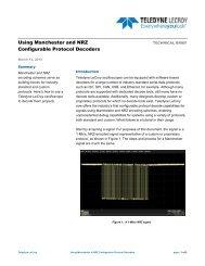 Using Manchester & NRZ Configurable Protocol ... - Teledyne LeCroy