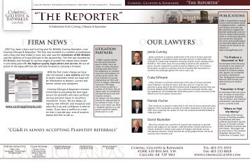 FIRM NEWS OUR LAWYERS - Cuming & Gillespie