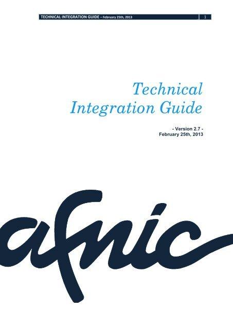 Technical Integration Guide - Afnic