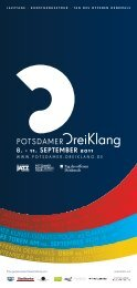 Offizieller Medienpartner für Kunst und Kultur in Potsdam Wir sind ...