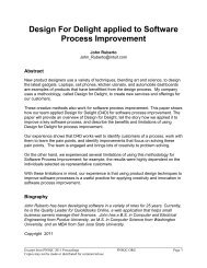 Design For Delight applied to Software Process ... - PNSQC