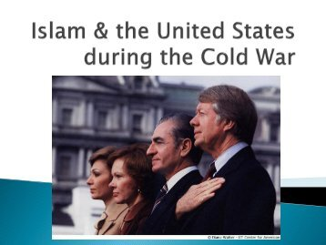 Islam & the United States during the Cold War
