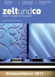 Einkaufsführer 2011 - zelt und co
