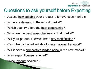 Irish Exports Association - Food & Drink Programmes - Tipperary