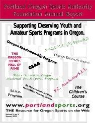 Portland Oregon Sports Authority Foundation Annual Report