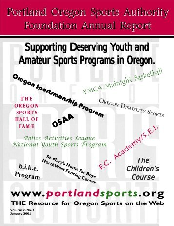 Portland Oregon Sports Authority Foundation Annual Report