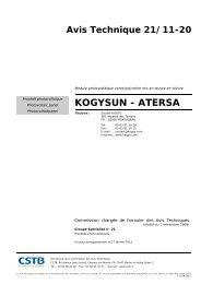 KOGYSUN - ATERSA - Photovoltaïque.info