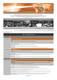 4th Euro-Africa Cooperation Forum on ICT Research - EuroAfrica-ICT