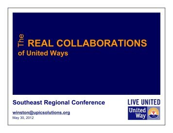 The Real Collaborations of United Ways
