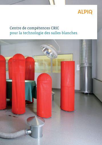 Centre de compétences CRIC pour la technologie des ... - Alpiq InTec
