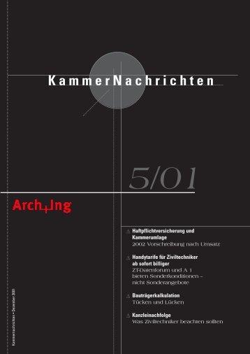 KammerNachrichten 5/01 - Kammer der ZiviltechnikerInnen für ...