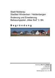 """""""Allee Süd"""" 3. BA Begründung"""