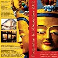 Flyer für Potsdam - Buddhistische Klosterschule Ganden Tashi ...