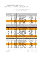 Garzile pentru luna iulie - Spitalul Clinic Municipal de Urgenta ...