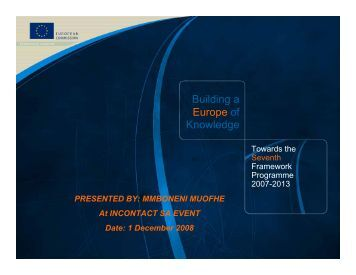 Overview of the European Union's Framework Programmes for