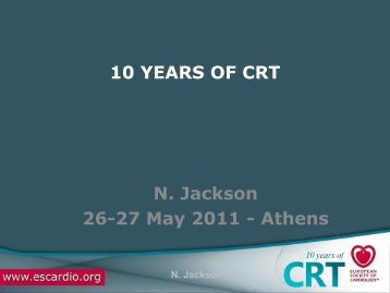 10 years of CRT - Cardiovascular Round Table (CRT)