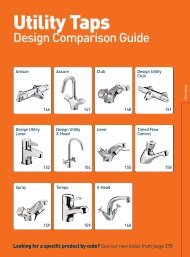 Design Utility Lever Shower Turn to page 22