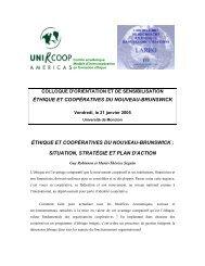 éthique et coopératives du nouveau-brunswick - Université de ...