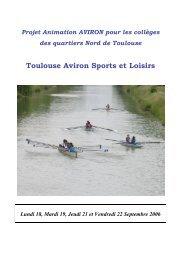 Toulouse Aviron Sports et Loisirs - Fédération française des ...