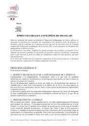 EPREUVES ORALES DE FRANÇAIS - Mission TICE