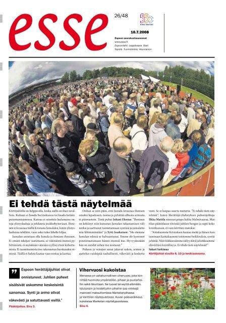26: 10.7. 2008 - Espoon seurakuntasanomat