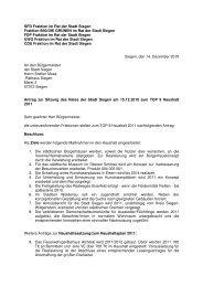 14.12.10 Gemeinsamer Antrag Haushalt 2011 - SPD Siegen