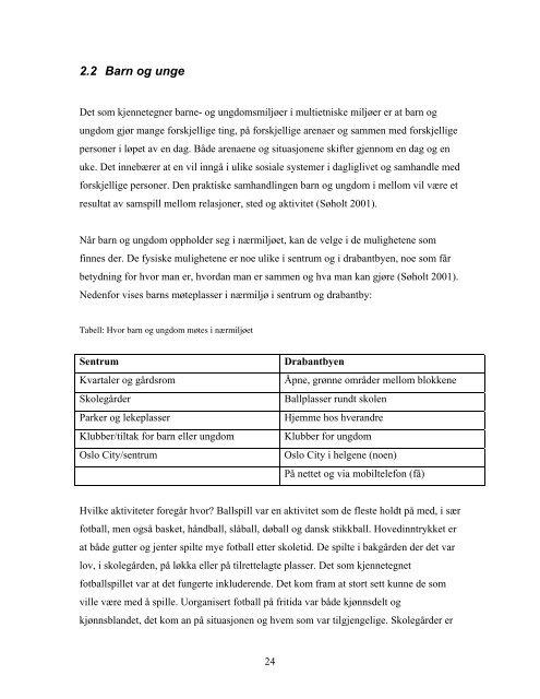 Møteplasser i multietniske utemiljøer - Plan - Domene