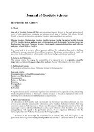 Journal of Geodetic Science Instructions for Authors - Versita