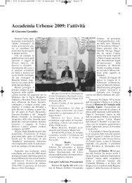 2009, un anno di attività - Accademia Urbense