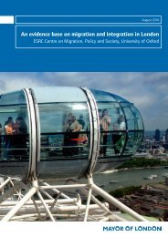 An evidence base on migration and integration in London