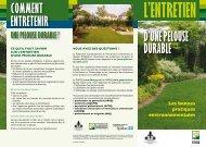Entretien d'une pelouse durable - Fédération interdisciplinaire de l ...