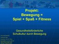 Projekt: Bewegung = Spiel + Spaß + Fitness - Universität Osnabrück