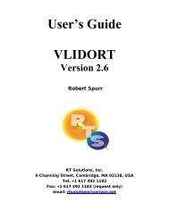 VLIDORT User's Guide