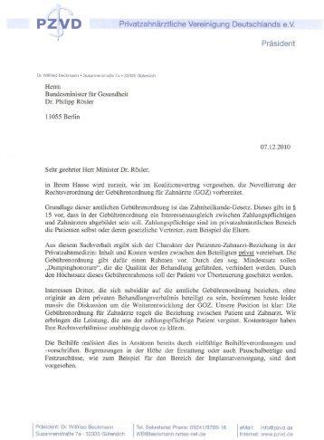 Privatzahnärztliche Vereinigung Deutschlands e.v. Präsident