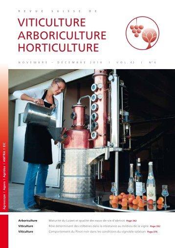 Télécharger le PDF - Revue suisse de viticulture arboriculture ...