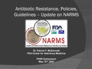 Update on NARMS - Federation of Animal Science Societies