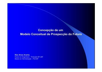 Concepção de um Modelo Conceitual de Prospecção do Futuro
