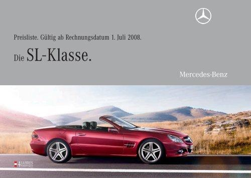 Die SL- Klasse. - Mercedes Benz